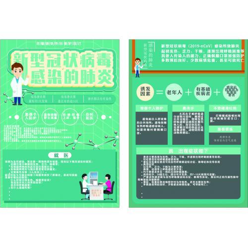 新型冠状病毒医学简约宣传单