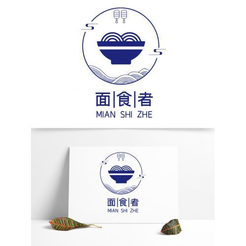 深夜食堂面条餐饮logo