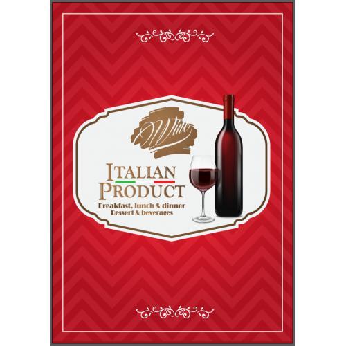 西餐厅红葡萄酒单