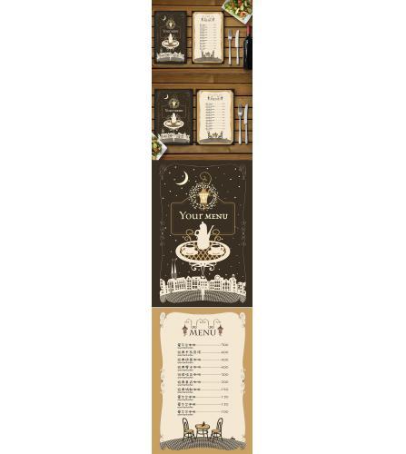 欧式花纹咖啡菜单