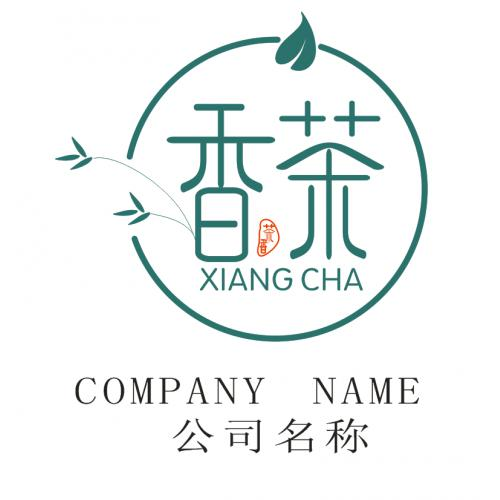 简单大气文艺茶字体标志logo设计