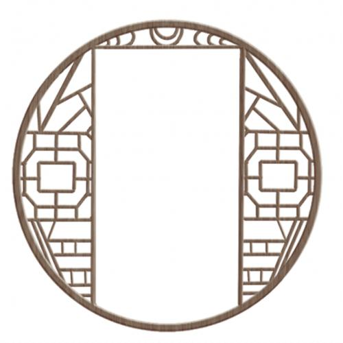 中国风古风圆形窗户