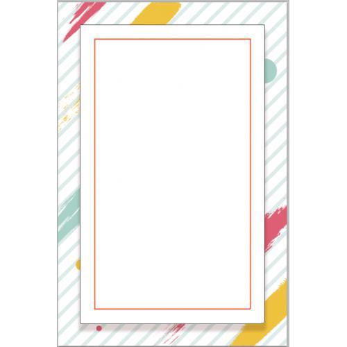 线框扁平抽象简约相框背景