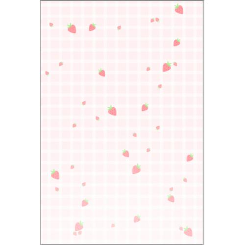 小清新粉色草莓格子背景