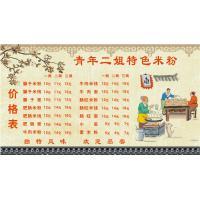 中国风面馆展板