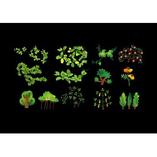 绿色树木植物树枝树叶素材