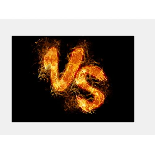 VS火焰艺术字字体设计1