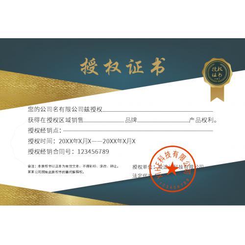企业创意授权证书模板