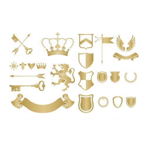 皇冠旗帜素材图案