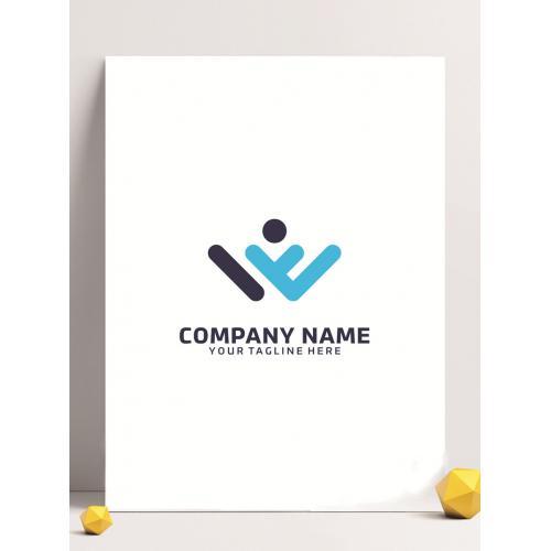运动达人logo设计图标标志矢量logo广告设计师从业人员必备的