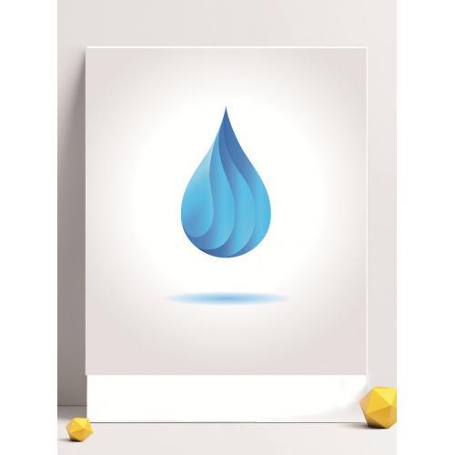 珍惜用水logo设计图标标志矢量logo广告设计师从业人员必备的