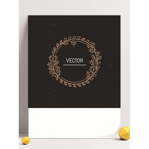 花朵图案设计图标标志矢量logo广告设计师从业人员必备的
