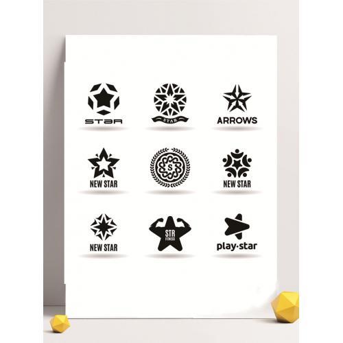 五角星图案设计图标标志矢量logo广告设计师从业人员必备的