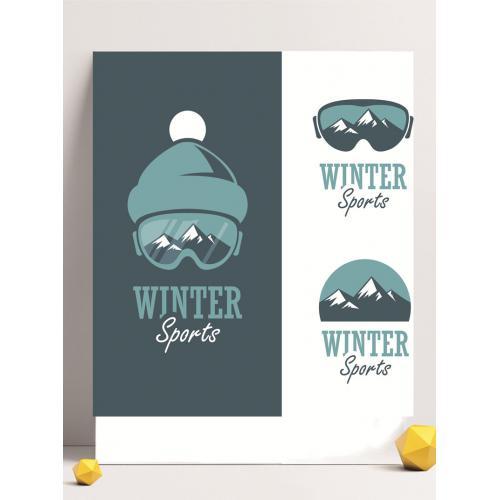 冬装设计图标标志矢量logo广告设计师从业人员必备的
