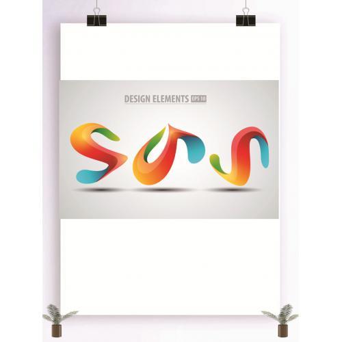 炫彩图案logo设计图标标志矢量logo广告设计师从业人员必备的