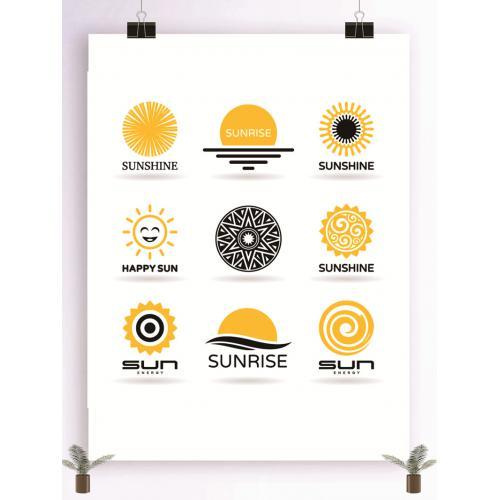 日出logo设计图标标志矢量logo广告设计师从业人员必备的