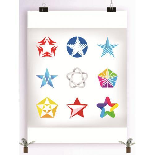 星星图案设计图标标志矢量logo广告设计师从业人员必备的